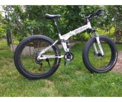 Продам велосипед фэтбайк - двухподвес складная рама, фетбайк+BONUS